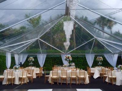 40 Wide Clear Top Tent