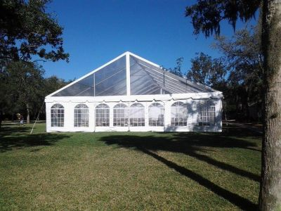 50 Wide Clear Top Tent