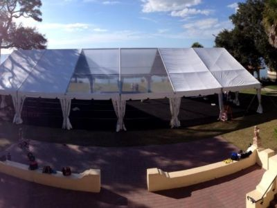 50x90 Clear Top Tent