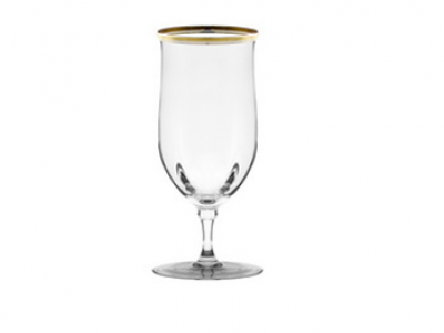 Gold Rimmed Water Goblet